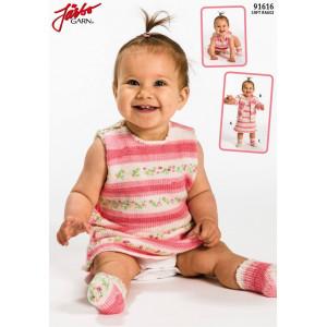 Järbo Babykjol och tröja med matchande raggsokcar - Set Strikkeopskrift str. Nyfödd - 1/2 år