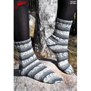 Järbo Sockor med stretch och med Afterthought Heel - Sockor Stick-opskrift strl. 21-45