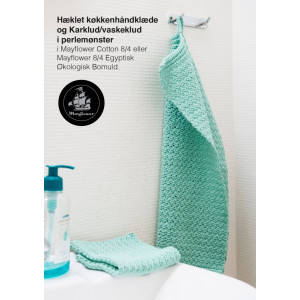 Mayflower Handduk og Disktrasa i Pärlmönster - Virk-opskrift 30x40 og 26x26 cm