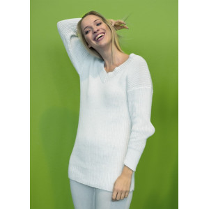 Mayflower Sweater i Ribb - Tröja Stick-opskrift strl. S - XXXL