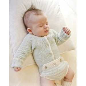 First Impression by DROPS Design - Baby Bodystock Stick-mönster strl. Prematur - 3/4 år