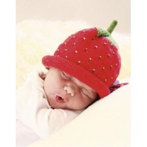 Sweet strawberry by DROPS Design - Baby Mössa Stick-mönster strl. 1/3 mdr - 3/4 år