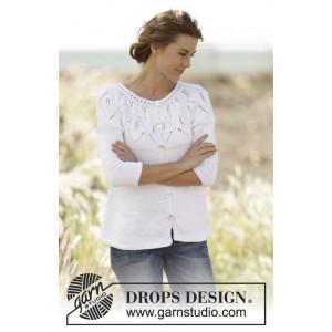 Summer Leaves Cardigan by DROPS Design - Jacka Stick-opskrift strl. S - XXXL