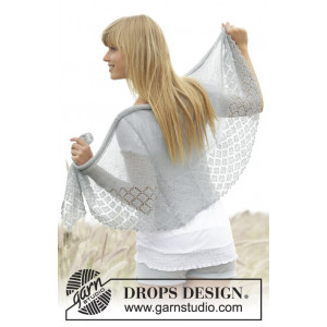 Falling in Lace by DROPS Design - Sjal Stick-mönster 154x50 cm