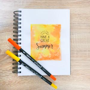 Lettering på akvarellbakgrund av Rito Krea - DIY Lettering