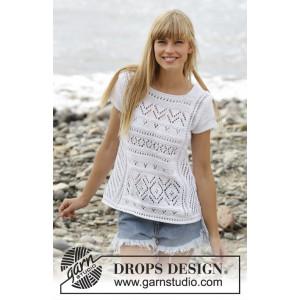 Erica Topp by DROPS Design - Topp Stick-opskrift strl. S - XXXL
