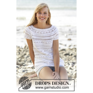 Seashore Bliss Topp by DROPS Design - Topp Virk-opskrift strl. S - XXXL