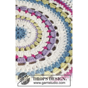 Color Wheel by DROPS Design - Matta Virk-opskrift 94 cm