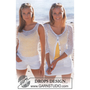 Summer Breeze Set by DROPS Design - Topp och Cardigan Virk-opskrift strl. S - XXL