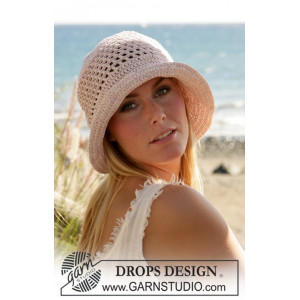 Seaside by DROPS Design - Hatt Virk-opskrift strl. S/M-L