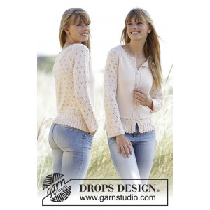 Jolly May by DROPS Design - Jacka Stick-opskrift strl. XS - XXXL