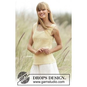 Fresh Lemonade by DROPS Design - Topp Stick-opskrift strl. XS - XXL