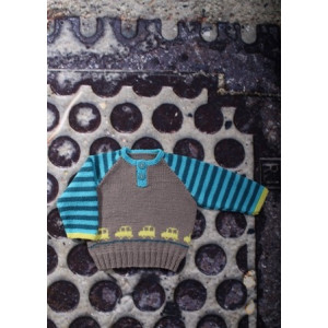 Mayflower Baby Tröja med Bilar - Tröja Stick-mönster strl. 0/1 mdr - 4 år