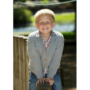 Mayflower Barntröja med strluktur - Tröja Stick-opskrift strl. 4 år - 12 år