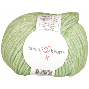 Infinity Hearts Lily Garn 12 Ljusgrön