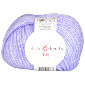 Infinity Hearts Lily Garn 13 Blålila
