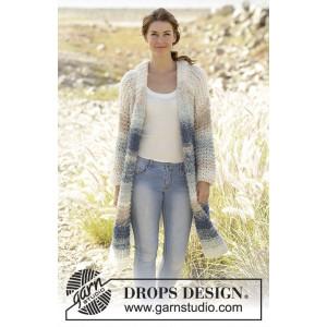 Ocean Roar by DROPS Design - Jacka Stick-opskrift strl. S - XXXL