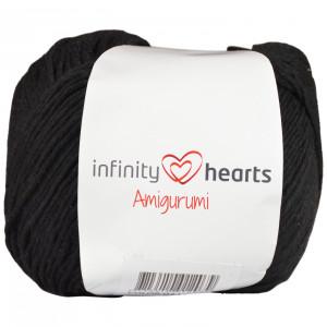 Infinity Hearts Amigurumi Garn 02 Svart
