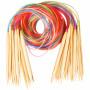 Infinity Hearts Rundstickor Set Bambu Natur/Print 120cm 2-10mm - 18 storlekar