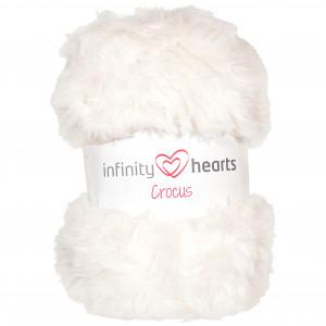 Infinity Hearts Crocus Pälsgarn 01 Vit