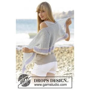 Lilia by DROPS Design - Sjal Stick-opskrift 160x40 cm