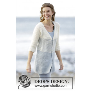 Irish Sea Cardigan by DROPS Design - Jacka Stick-opskrift str. S - XXXL
