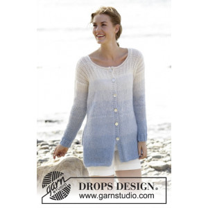 Sailing Cardigan by DROPS Design - Jacka Stick-opskrift str. S - XXXL