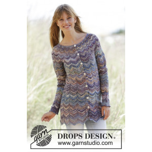 At Sundown Cardigan by DROPS Design - Jacka Stick-opskrift str. S/M - XXL/XXXL