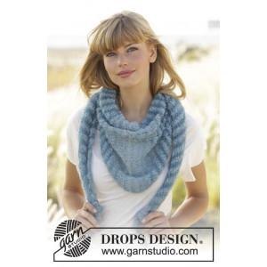 Hues of Blues by DROPS Design - Sjal Stick-opskrift 190x40 cm