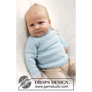 McDreamy by DROPS Design - Baby Blue Stick-mönster strl. 1/3 mdr - 3/4 år