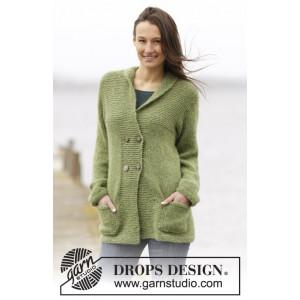 Autumn Forest Jacket by DROPS Design - Jacka Stick-opskrift strl. S - XXXL