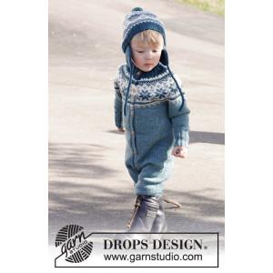 Wild Blueberries by DROPS Design - Heldräkt och mössa Stick-opskrift str. 12/18 mdr - 5/6 år