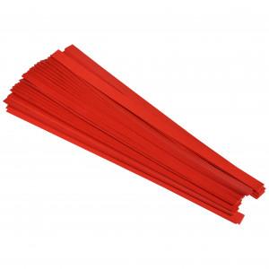 Stjärnstrimlor Röd 10mm - 100 st