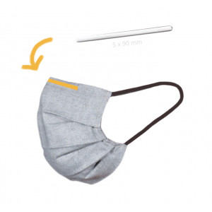 Näsbåge till Munskydd/Ansiktsmask med Lim Aluminium Silver 5x90mm - 10 st