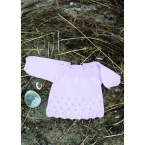 Mayflower Babyklänning med Hålmönster - Tunika Stick-mönster strl. 0/1 mdr - 4 år