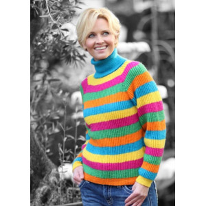 Mayflower Randig Sweater - Tröja Stick-opskrift strl. S - XXL