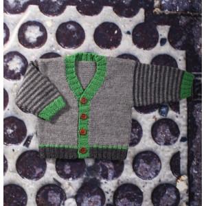 Mayflower Babytröja med V-hals - Tröja Stick-mönster strl. 0/1 mdr - 4 år