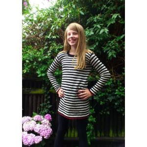 Mayflower Randig Barnklänning - Tunika Stick-opskrift strl. 8 år - 14 år