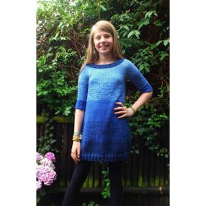 Mayflower Dip-dye klänning - klänning Stick-opskrift strl. 8 år - 14 år