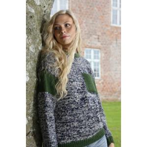 Mayflower Sweater med Bröstficka - Tröja Stick-opskrift strl. S - XXXL