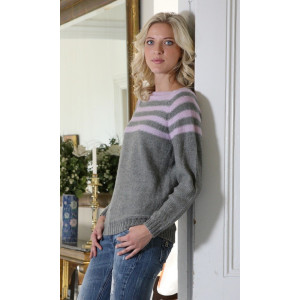 Mayflower Sweater med ränder - Tröja Stick-opskrift strl. S - XXXL