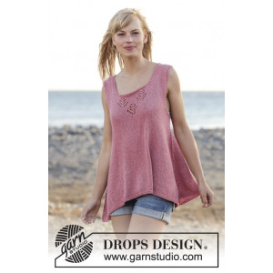 Woodstock by DROPS Design - Topp Stick-opskrift strl. S - XXXL