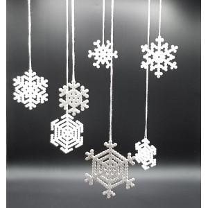 Snöflinga av Pärlor av Rito Krea - Pärlmönster 6x6 - 9x9 cm - 7 st