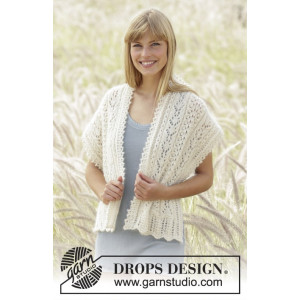 Sweet Alicia by DROPS Design - Sjal Stick-opskrift 144x42 cm
