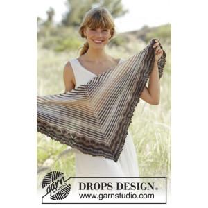 Cafe by DROPS Design - Sjal Stick-opskrift 150x50 cm