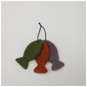 3 små fiskar - Sångväska från Rito Krea - Tre små fiskar Virkmönster