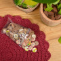 Infinity Hearts Assorterade Knappar med motiv Kokos 20mm - 100 st.