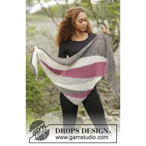 Tide Rose by DROPS Design - Sjal Stick-opskrift 175x62 cm