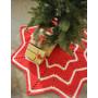 Under the Christmas Tree by DROPS Design - Julgransmatta Virk-mönster 95 cm