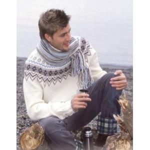 Prince of Snow by DROPS Design - Sweater och Halsduk Stick-opskrift strl. 12/14 år och S/M - XXL